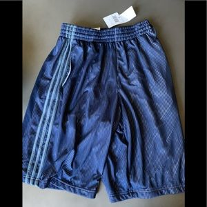 NWT adidas MENS basketball shorts triple up blue